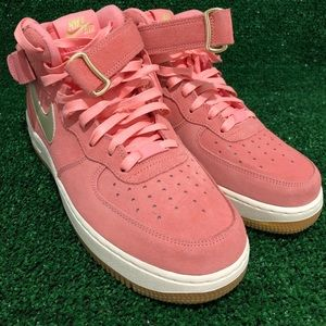 Nike Air Force one mid women's pink size 10